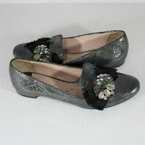 Miu Miu Jeweled Loafers Flats Made In Italy K238
